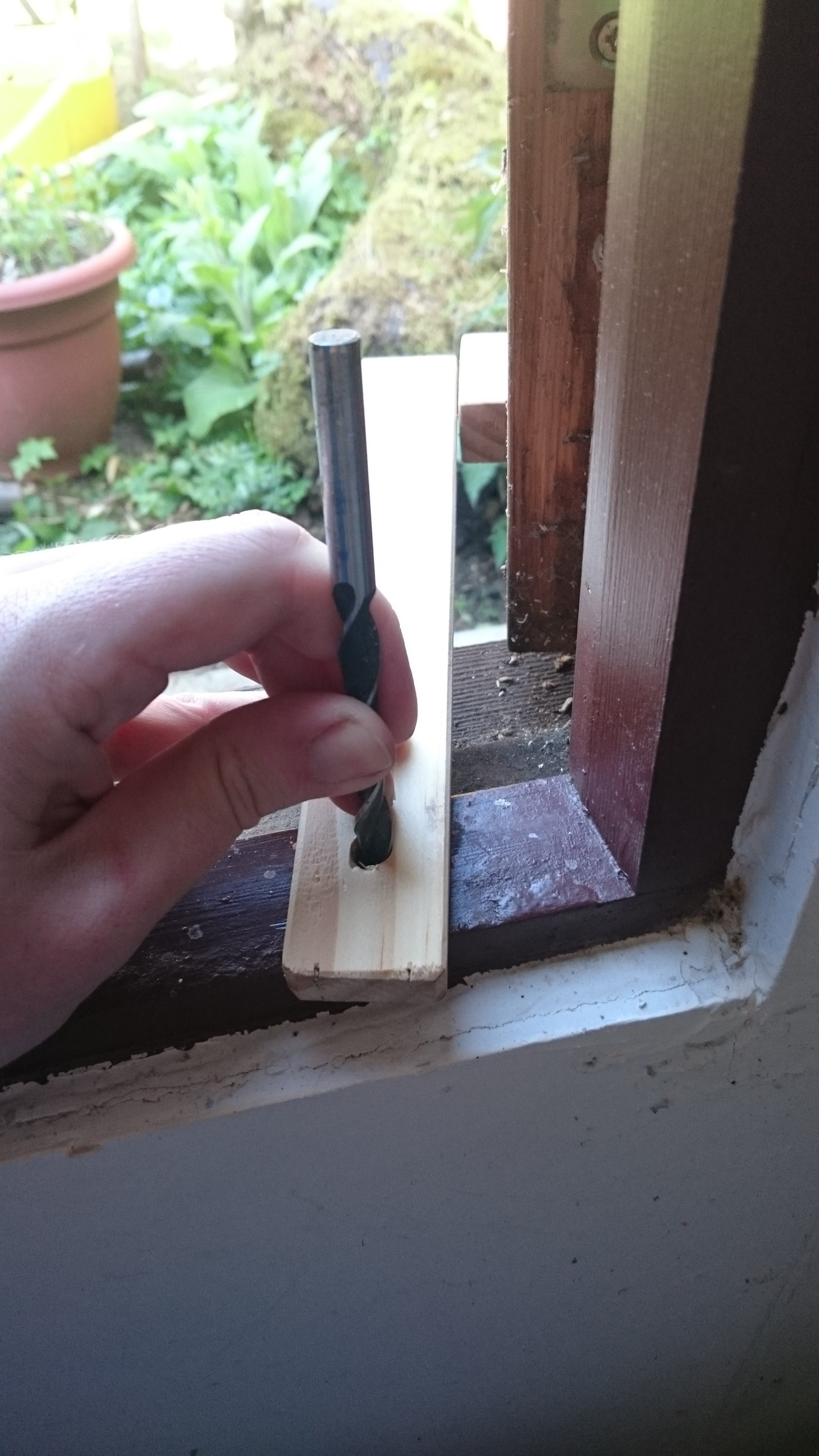 Picture of Attaching the Latch Holding Dowels