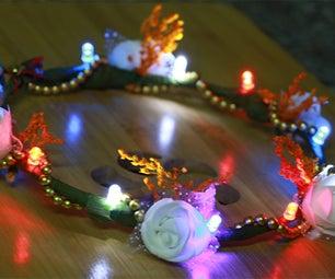DIY LED Head Wreath