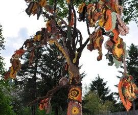 Autumn Weeps, Crocheted Tree