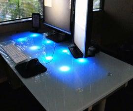 LED Glass Desk