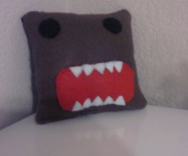 How To: Domo-Kun Plushie/Mini Pillow