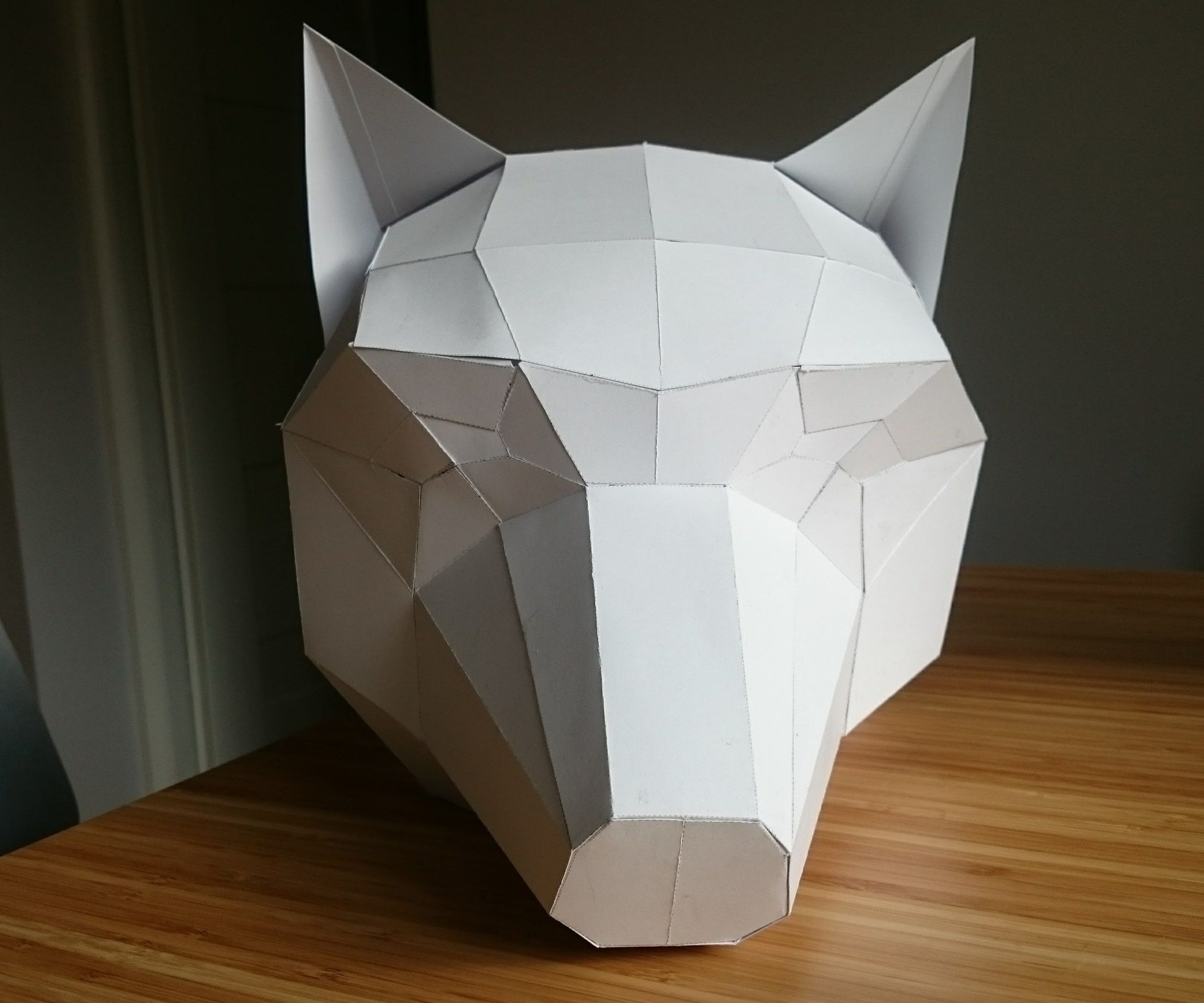 Papercraft Low Poly Wolf Mask 6 Steps With Pictures