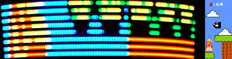 Picture of The 'One Chip Spinning RGB POV Display' With Conversion Software.