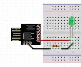 Attiny85 USB Development Board LED Blinking With Arduino IDE
