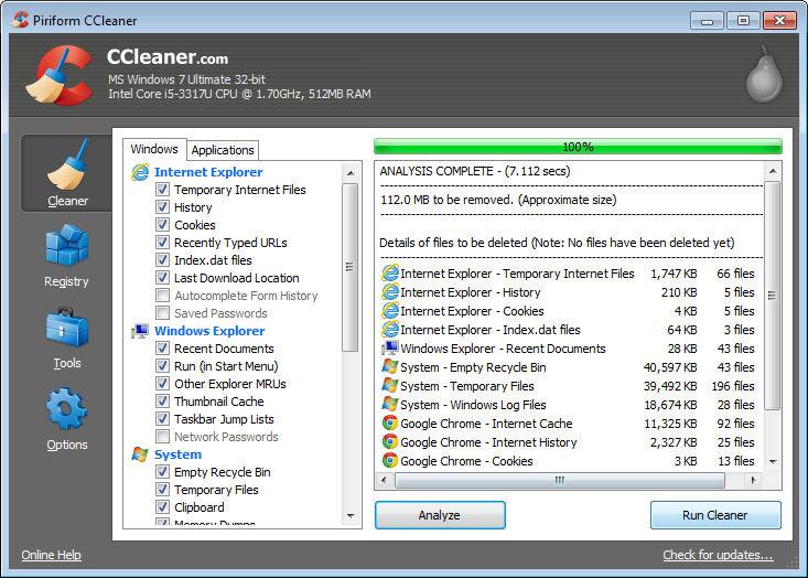 Picture of Clean Up Unnecessary Files