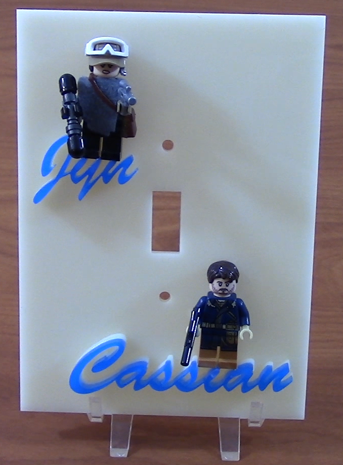 Picture of How to Laser Cut and Assemble a Lego Light Switch Plate