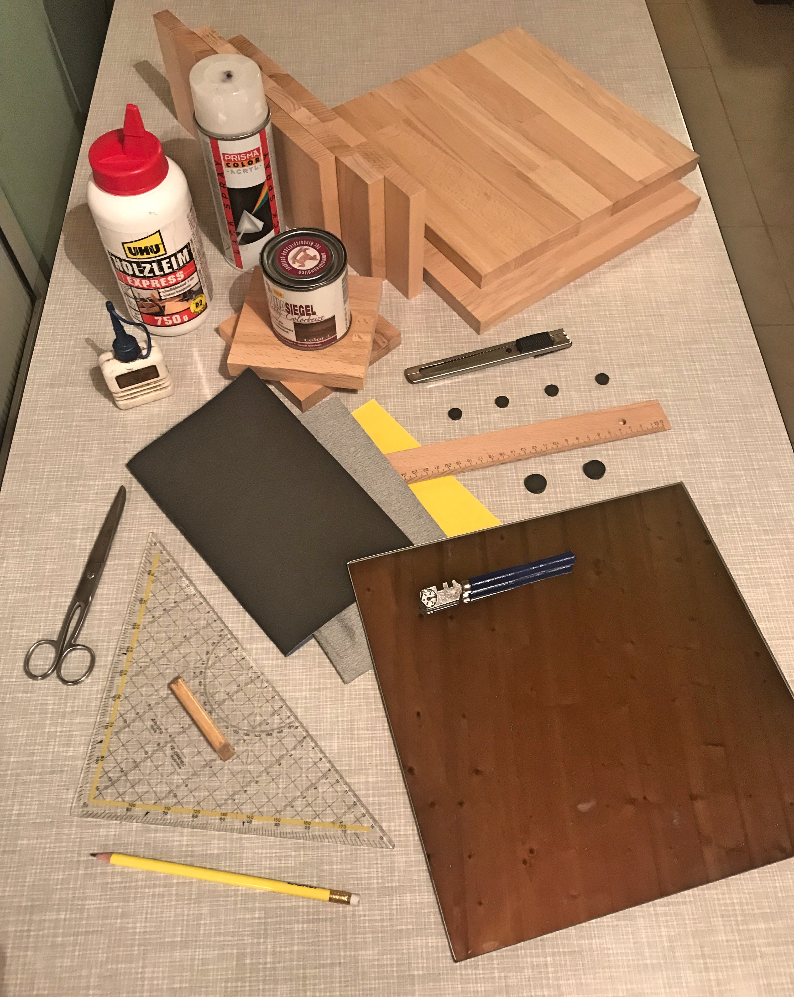 Picture of Material and Tools