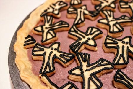 Escher Inspired Taro-Coconut Custard Pie