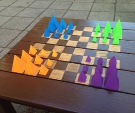 3D Game Pieces - Martian Chess