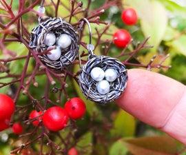 Itty Bitty Bird's Nest Earrings