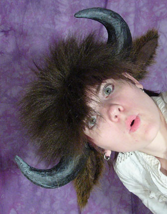 Picture of Bison Horns and Ears on an Elastic Headband