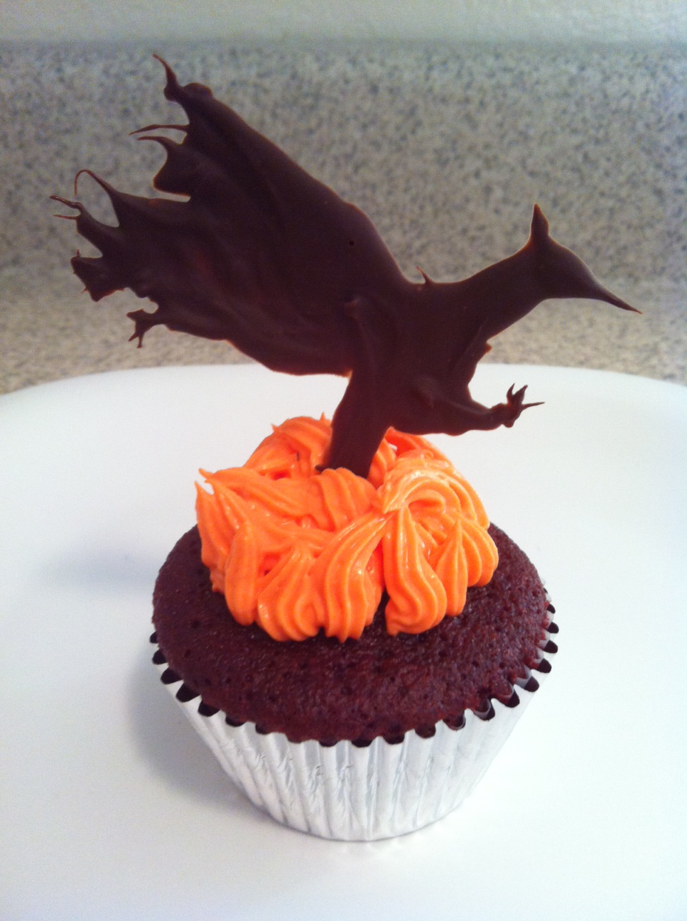 Picture of Katniss Spicy Red Velvet Hunger Games Cupcakes