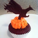 Katniss Spicy Red Velvet Hunger Games Cupcakes