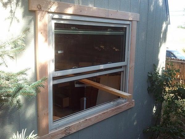 Add Window to Shed