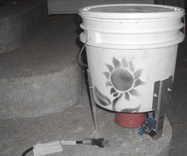 Small Electric Wildflower Seed Bucket Thresher