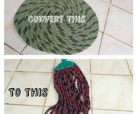 Convert Old Mat to a Cleaning Mop