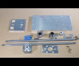 Homemade Mini Milling Router Mill DIY Z Axis Slide Aluminium Stage Frame CNC for 3D Printer