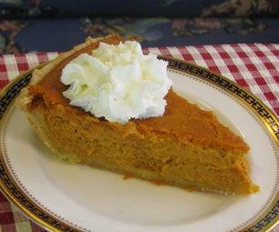Bourbon Sour Cream Pumpkin Pie