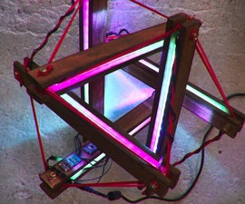 Interactive led lamp   tensegrity structure + arduino