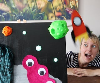 Space Monsters - an Interactive Painting