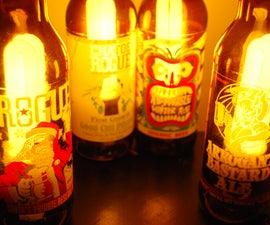 Beer Bottle Lamps
