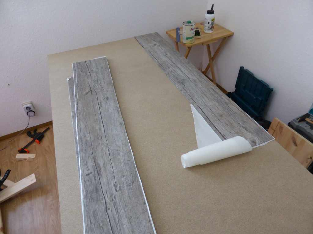 Picture of Attaching the Tabletop and Putting on the Vinyl Flooring