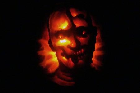 Zombie Pumpkin Bas Relief