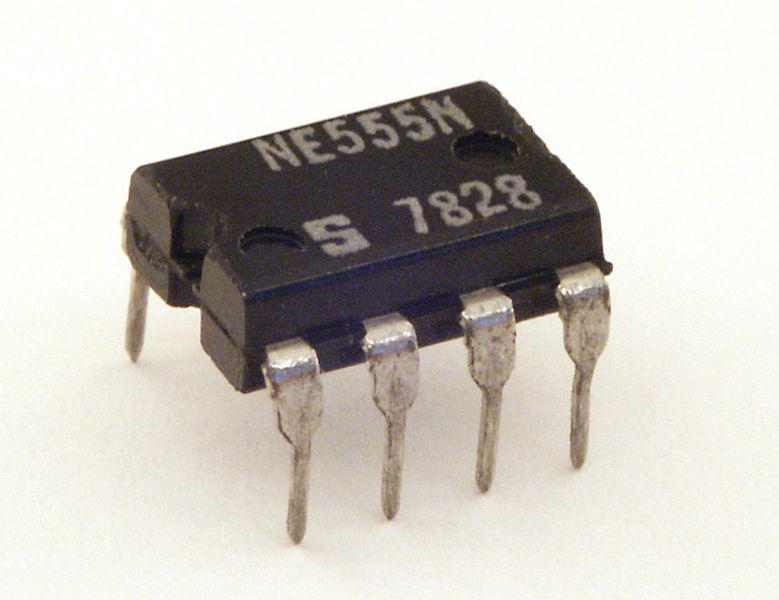 Picture of Insert the 555 Timer Chip Into the Snap Circuits IC Socket Block