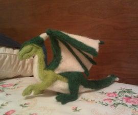 Needle Felted Wool Dragon