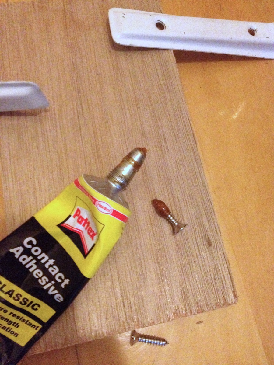 Picture of Glue and Screw