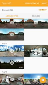 the Gear 360 VR App