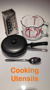 Ingredients and Cooking Utensils