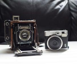 Use Instax Mini Film in an old Sheet Film Camera