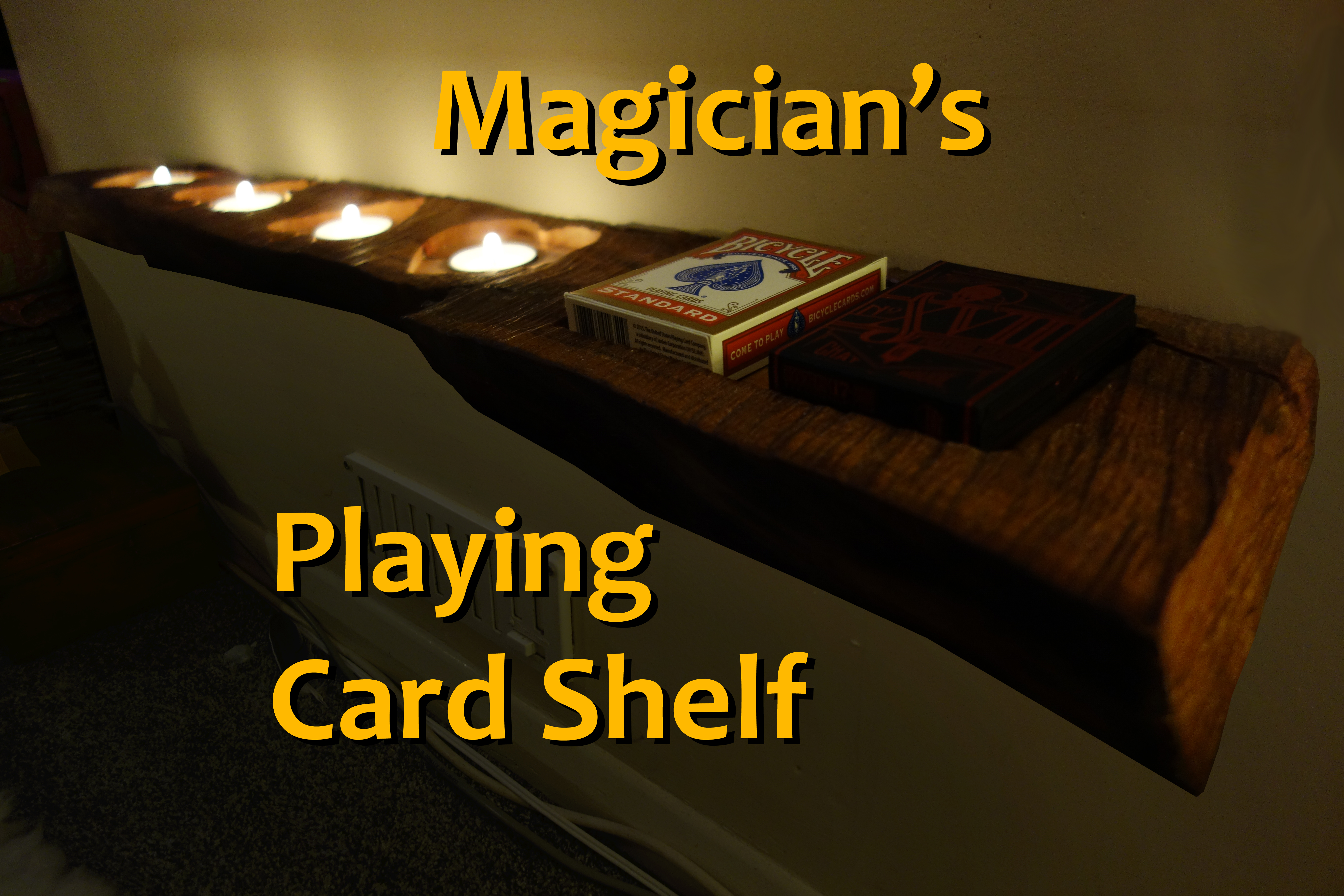 Picture of Floating Live Edge Playing Card Shelf