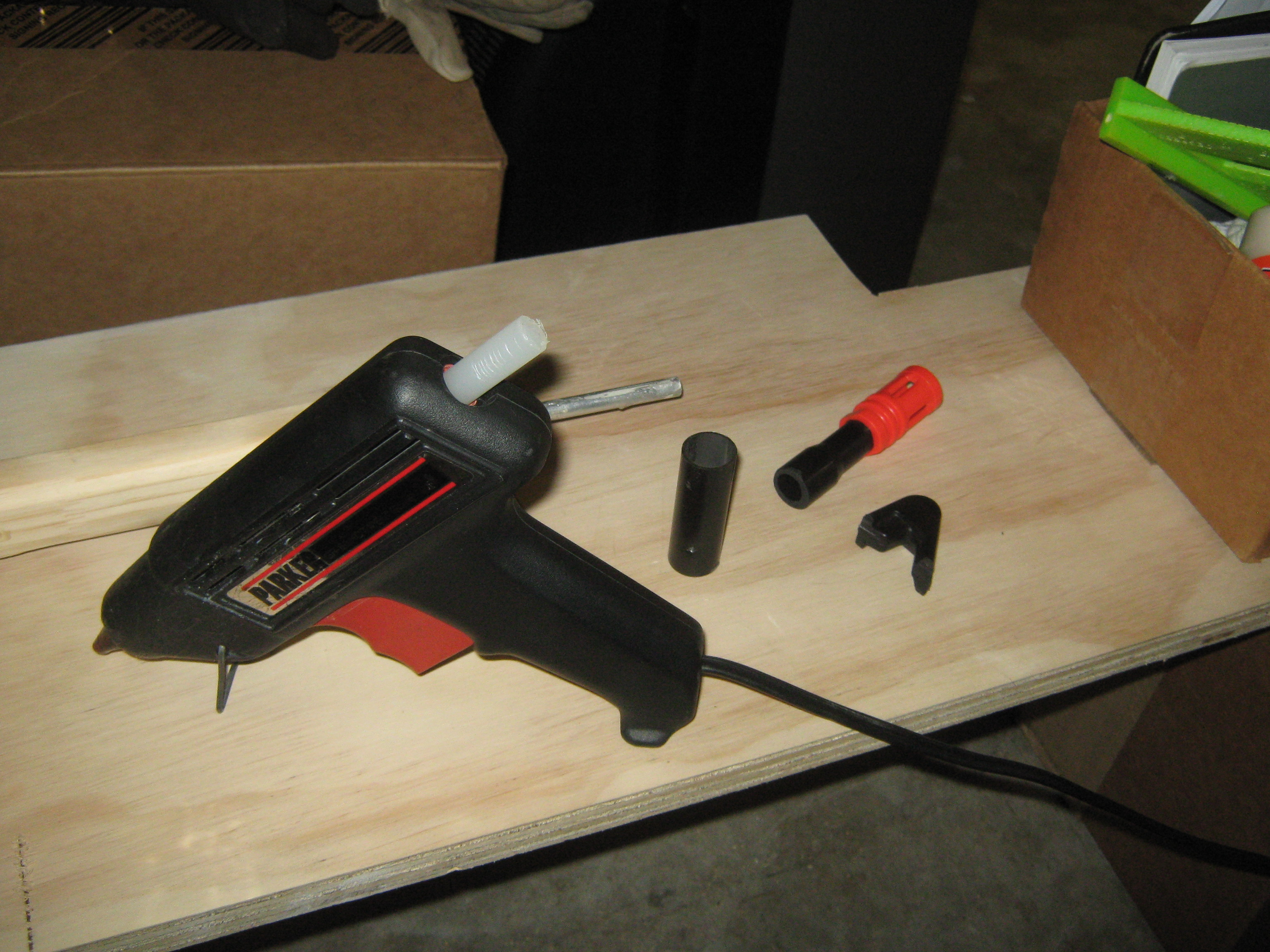Picture of Attaching Custom Parts.