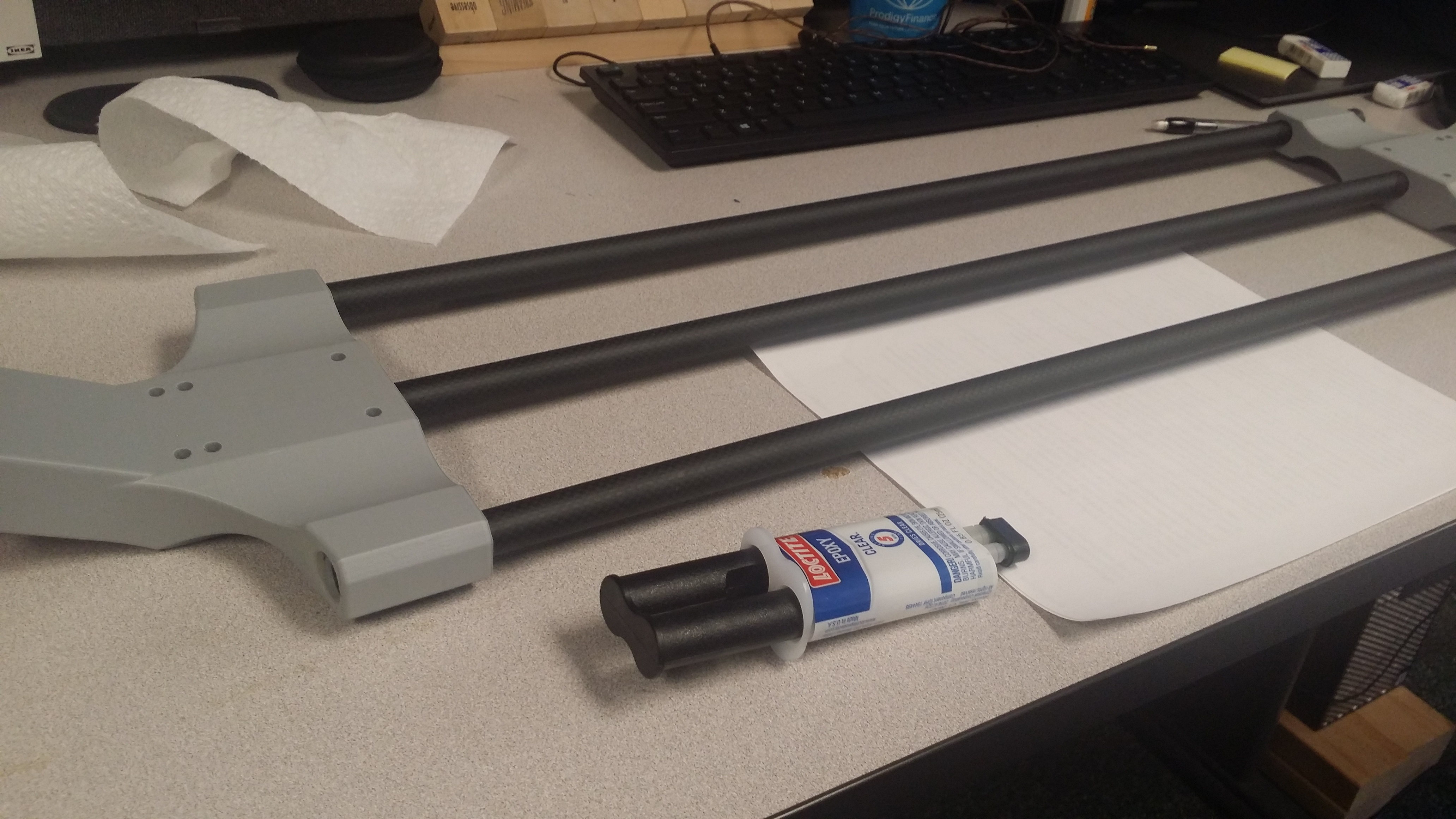 Picture of Glue the Side Tubes, Glue the Center Tube
