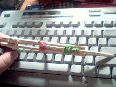 Rubber Band Gun - Pistol Style (Chopsticks and RubberBand)