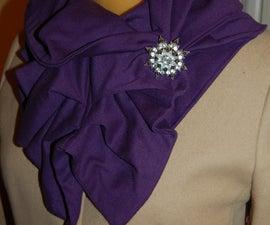 Simple Knit Ruffle Scarf