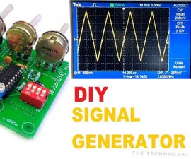 HOW TO MAKE a SIGNAL GENERATOR|Sine, Triangle, Square and Pulse