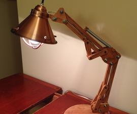 Wooden Architect Lamp