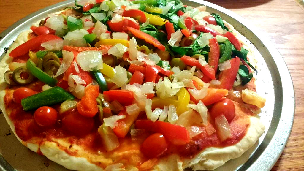 Picture of Fast, Easy, Yeast-Free Vegan Pizza!