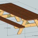 ADA-compliant Picnic Tables
