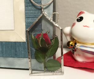 Miniature Rose Pendant
