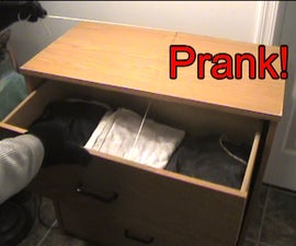How to easily booby trap a drawer for a funny prank!