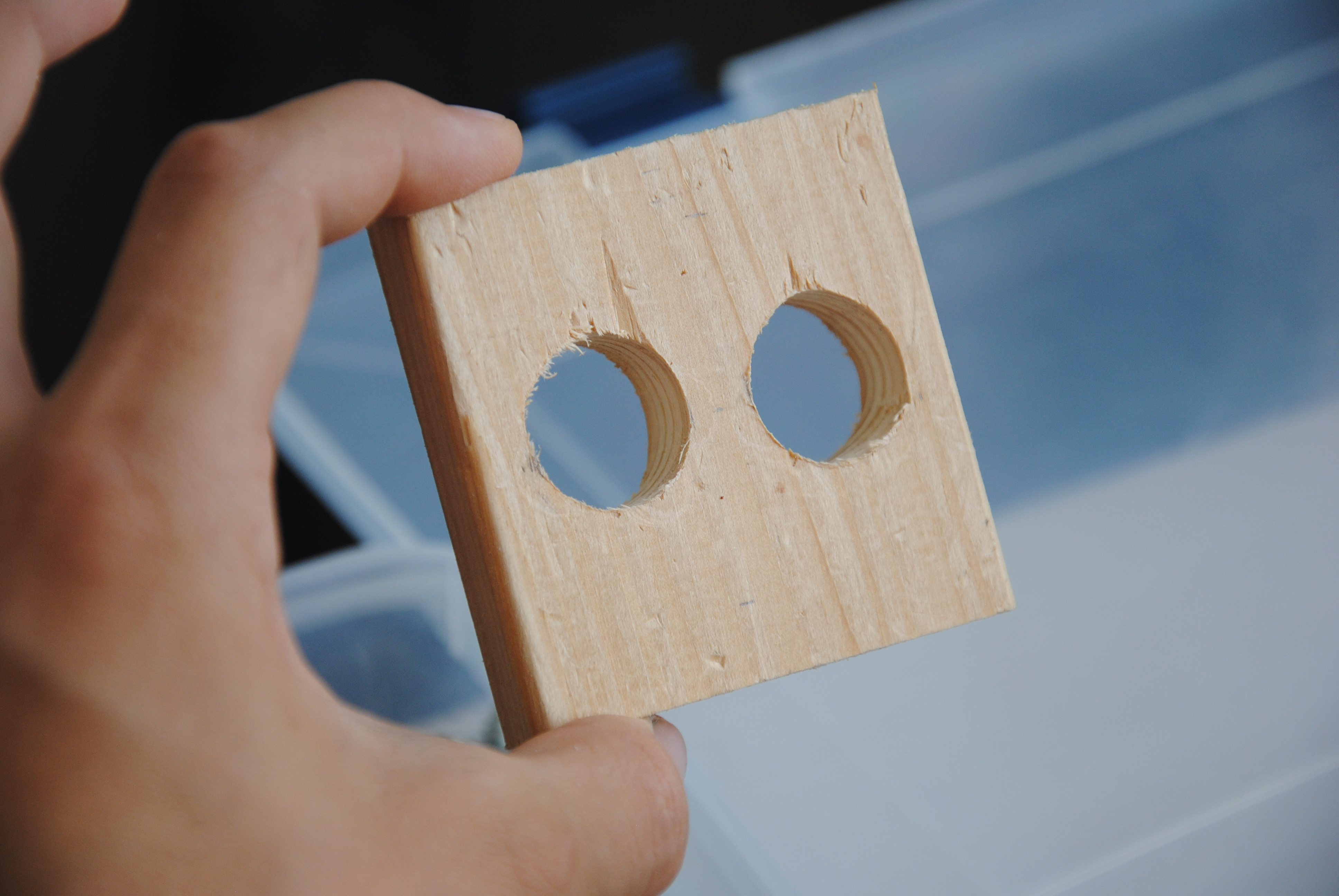 Picture of Drill the Holes (don't Forget to Rectangle-ify It)