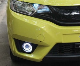 Install Halo LED Projector Fog Light