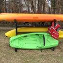 How to make an outdoor Kayak Storage Rack