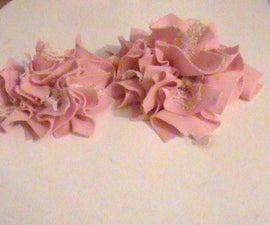 Simple fabric flower