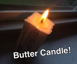 Toilet Paper Butter Candle