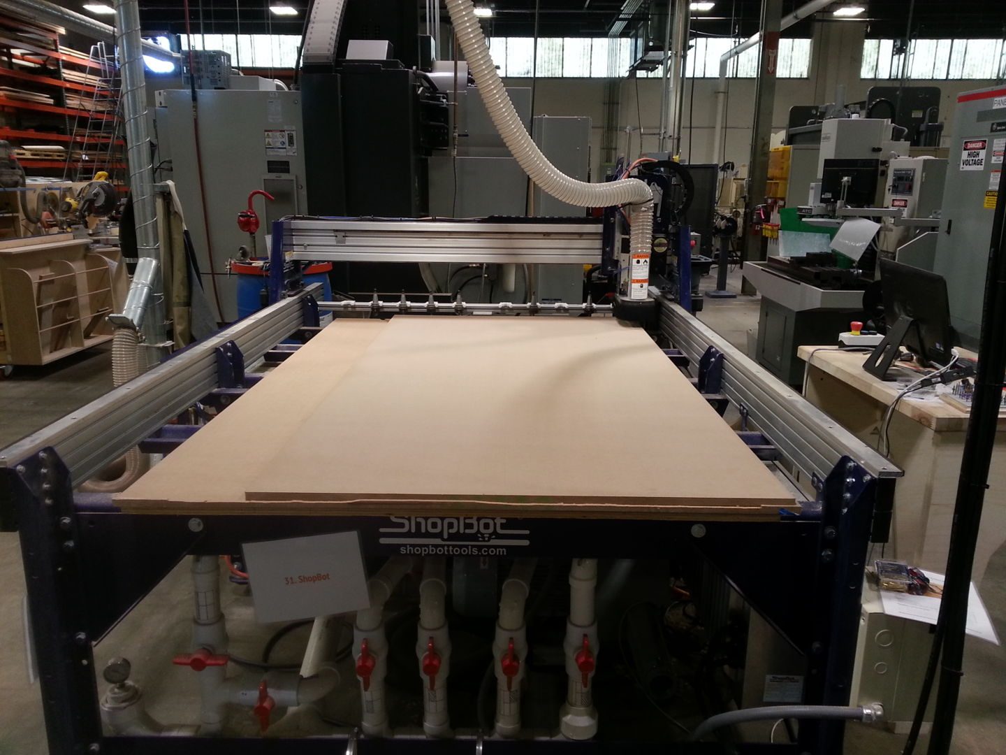 Picture of Cut Cabinet Panels Using Shopbot